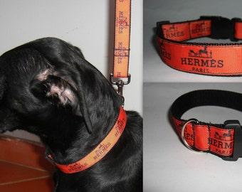 DESIGNER DOG COLLAR-Designer Logo Dog Collar -Handmade in Europe-Bling up your dog