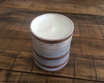 Hand poured lavendar and sandalwood scented candle