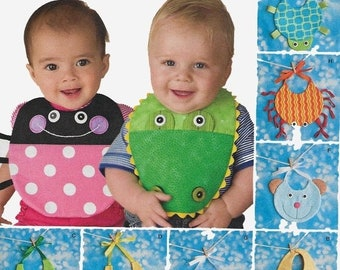 ON SALE Baby Bib Sewing Pattern Ladybug bib, Turtle Bib, Alligator Bib, Owl Bib, Bee Bib, Baby Shower Gift, Baby Present