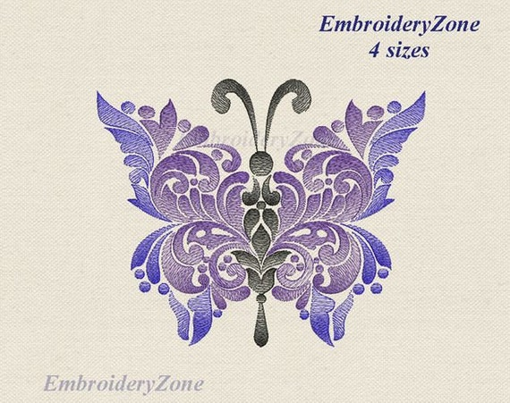 Fancy Butterfly Machine Embroidery Design Embroidery Pattern