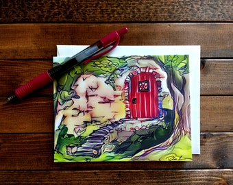 Fantasy Scene Note Cards (Set of 5)