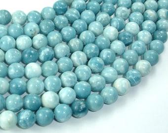 Larimar Quartz, 8mm Round Beads, 15.5 Inch, Full strand, Approx 50 beads, Hole 1mm (301054002)