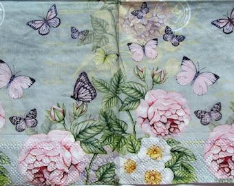 decoupage paper Decoupage paper napkins Roses Shabby chic