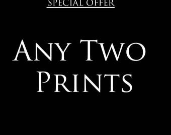 Any 2 prints special offer – Discount deal – Save – Gifts for kids – Gifts for him – Gifts for her – Offer – Wall art – Nursery art