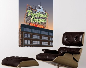 Portland Oregon Old Town Wall Decal - #60855
