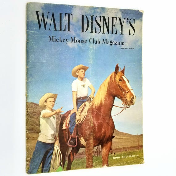 Walt Disney's Mickey Mouse Club Magazine Volume 1, Number 2, Spring, 1956 Disneyana Spin and Marty