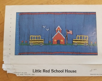 Little Red School House smocking design by Mollie Jane Taylor