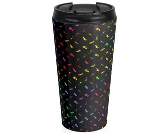 Rainbow Brass Stainless Steel Travel Mug