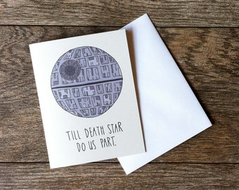 Star Wars Death Star Wedding Card