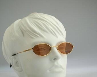 Yanks 630 768, Vintage oval sunglasses, 90s mens & women rare and unique / NOS