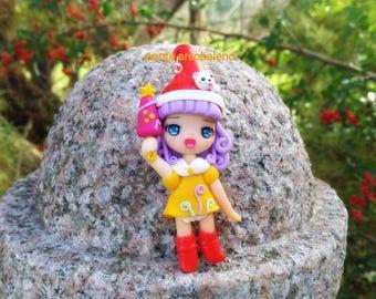 Memole sweet Memole necklace/ Memole/ elf/ cartoon/ collection/ fantasy anime/ clay/ handmade/ doll/ gift