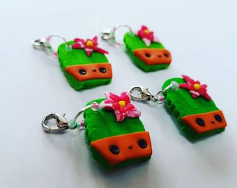 Cactus in a pot toast charms