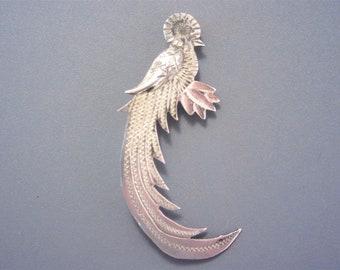 Vintage Guatemala 900 Silver Quetzal Bird Brooch