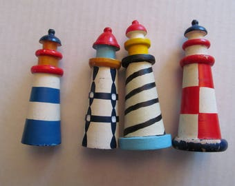 Group of 4 Lighthouses - handmade