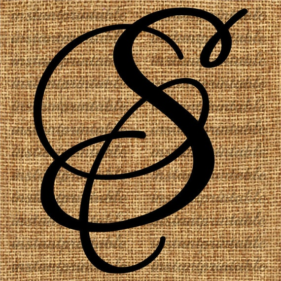 Monogram initial letter s clip art decal