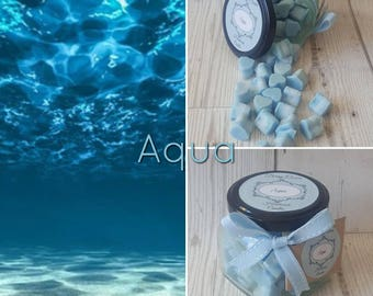 AQUA WAX MELTS, Perfume Dupe Wax Melts, Perfume Type Wax Melts, Aqua Mini Melt, Blue Soy Wax, Wax Melts, Acqua di Gio Type, Armarni Type