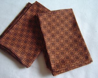 9 BIG POCKETS COTTON RUST BROWN FOR SWEETS JEWELRY SOAPS