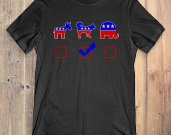 Husky T-Shirt Funny Gift: Vote Husky For President