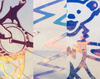 GRATEFUL DEAD DECALS- Dancing Bear- Bolt- Terrapin