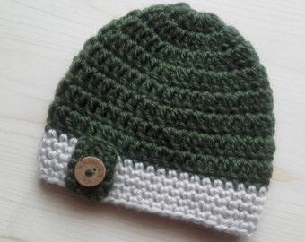 Newborn Hat, Newborn Photo Prop, Newborn Boy Hat, Crochet Baby Hat, Infant Hat, Newborn Boy Beanie, Baby Hat, Newborn Beanie