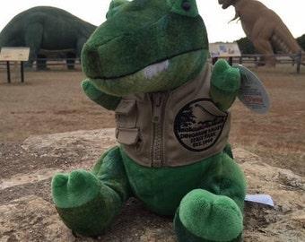 Dinosaur Valley State Park Dino Dan Stuffed Animal Dinosaur w/Vest
