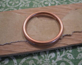 Small Open Frame Hoop in Antique Copper by Nunn Design