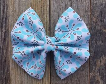 Light Blue Floral Bow