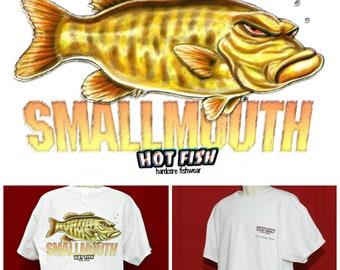 Grumpy Angry Funny Fish Shirt   SMALLMOUTH BASS Small Mouth Bass Fish  Fisherman Fishing Gift T-shirt Nautical Design