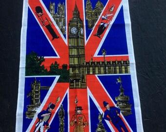 Vintage Big Ben Tea Towel London Jack by Ulster Irish Linen Towel Dish Towel Souvenir DEADSTOCK