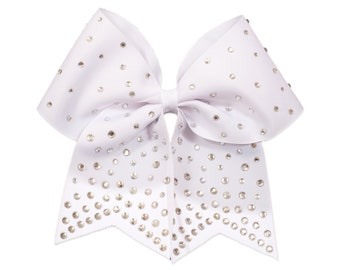 GymStar White Super BLING Cheer Bow