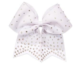 GymStar White Super BLING Cheer Bow