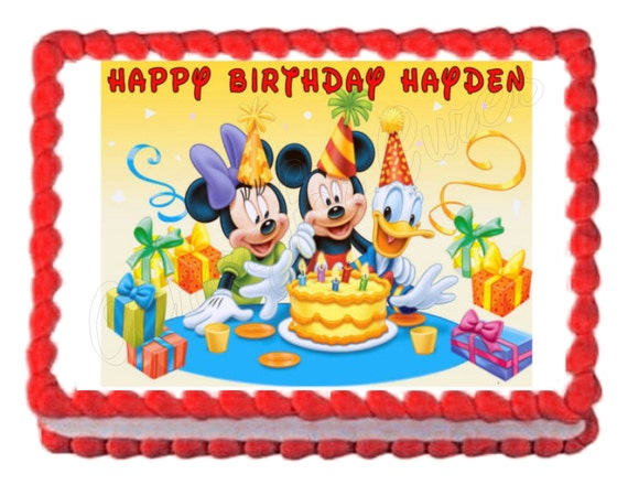Mickey Mouse Clubhouse edible cake image cake topper frosting