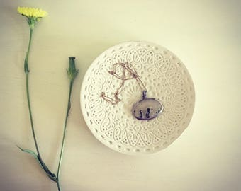 Concrete Plate. Cement Jewelry Dish. Air Plant Holder. Concrete Soap Dish.