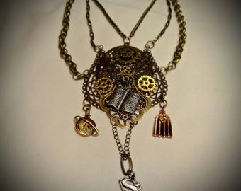 Undercover Strategy - A Superman Steampunk Necklace