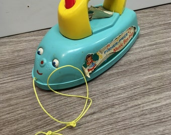 Vintage fisher price toy iron