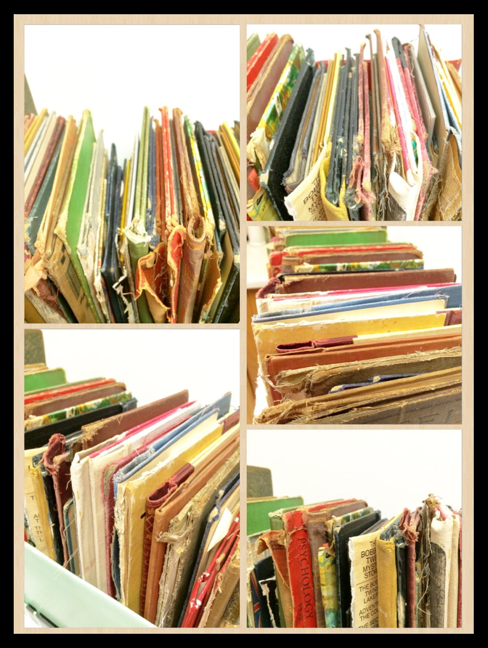 Old Book Cover Craft : Old book covers decorative salvage