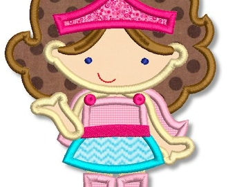 SUPERHERO GIRL 1 Applique 4x4 5x7 6x10 Machine Embroidery Design File INSTANT Download