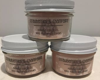 Soy Candle - 4 oz - Strawberries & Champagne