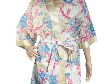Vintage Rare Adonna Floral Robe size small