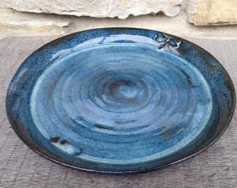 Dragonfly Pottery Dinner Plate