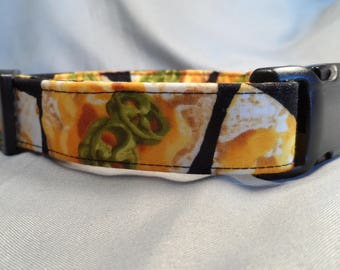 Hot Nachos Dog Collar Black