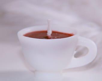 Mini coffee tea cup candle