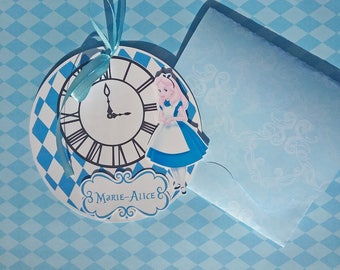 Announcement round Alice in wonderland, Alice in Wonderland with envelope