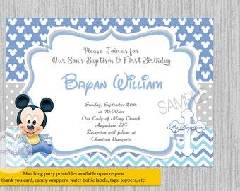 Mickey baby invite Etsy