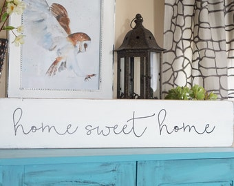 Home Sweet Home Wooden Sign Rustic Home Sweet Home Sign Hanging Home Sweet Home Sign Rustic Wall Hanging Housewarming gift Farmhouse decor