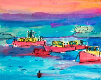 Red Boats - Print