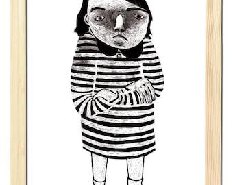 Angry Girl - A5 Poster