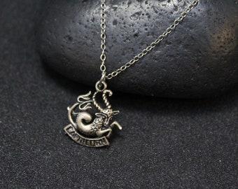 Sterling Silver Capricorn Necklace, Capricorn Jewelry, Sterling Silver Zodiac Jewelry, Sterling Capricorn Necklace, Sterling Zodiac