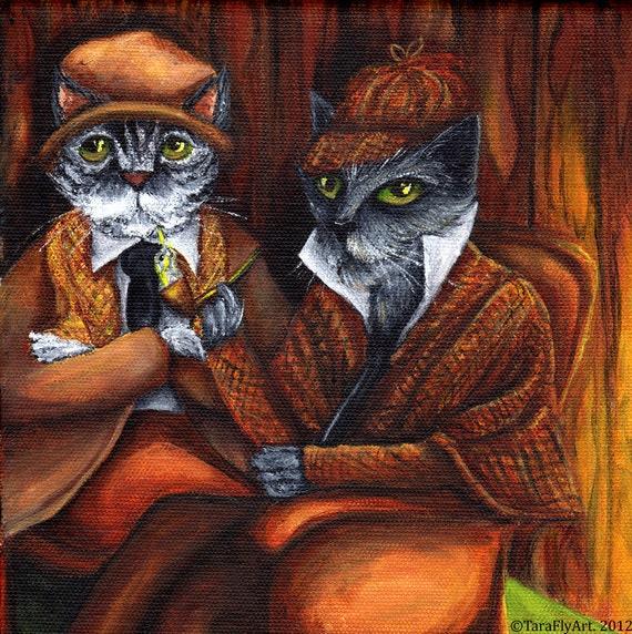 Sherlock Holmes and Watson 8x10 Fine Art Print