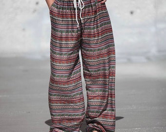 Boho/Thai pants in Tribal print